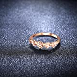 Clearance Rings Daoroka Exquisite Flower Diamond