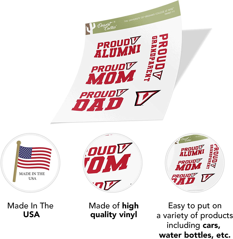 University of Virginias College at Wise NCAA Sticker Vinyl Decal Laptop Water Bottle Car Scrapbook Family Full Sheet