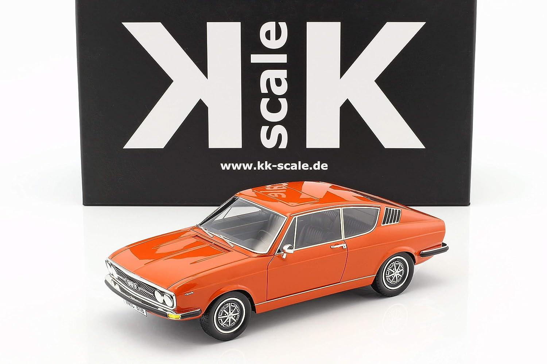 KK-Scale Audi 100 Coupe S Baujahr 1970 Orange 1:18