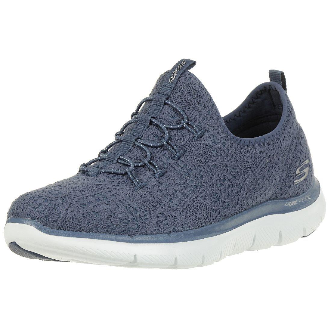 Skechers Flex Appeal 2.0 Clear Cut Women Sneaker Slip on Memory Foam Blue 12907 37 EU