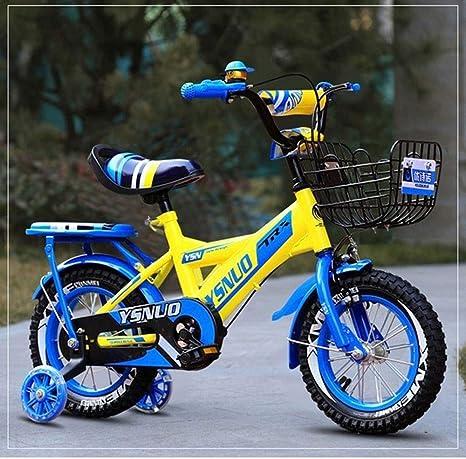 """K-G Bicicleta Infantil Bicicleta for niño de 2-11 años, los niños Bicicleta for niños Bicicleta con Flash Ruedas de Entrenamiento y Guardabarros, 12"""" 14"""" 16"""" 18 ..."""