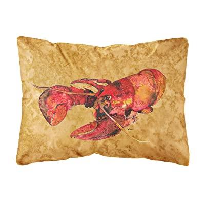 Caroline's Treasures 8715PW1216 Lobster Canvas Fabric Decorative Pillow, 12H x16W, Multicolor : Garden & Outdoor