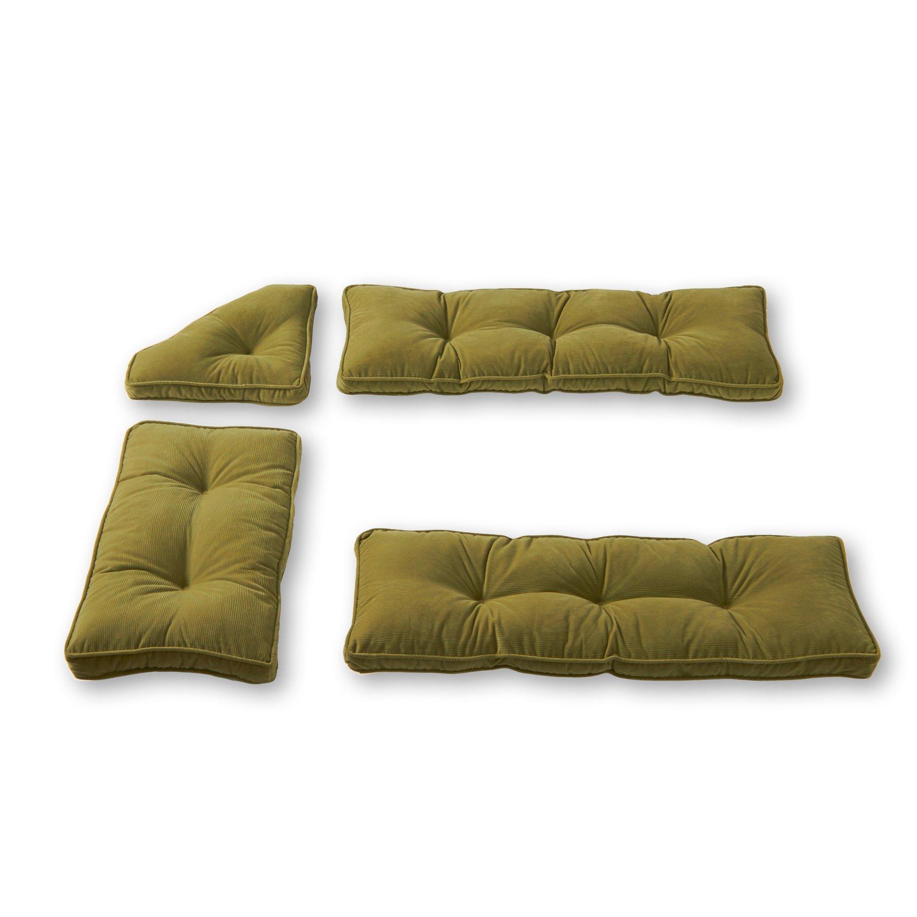 Greendale Home Fashions Nook Cushion Set, Olive Green, Pack of 4. by Greendale Home Fashions