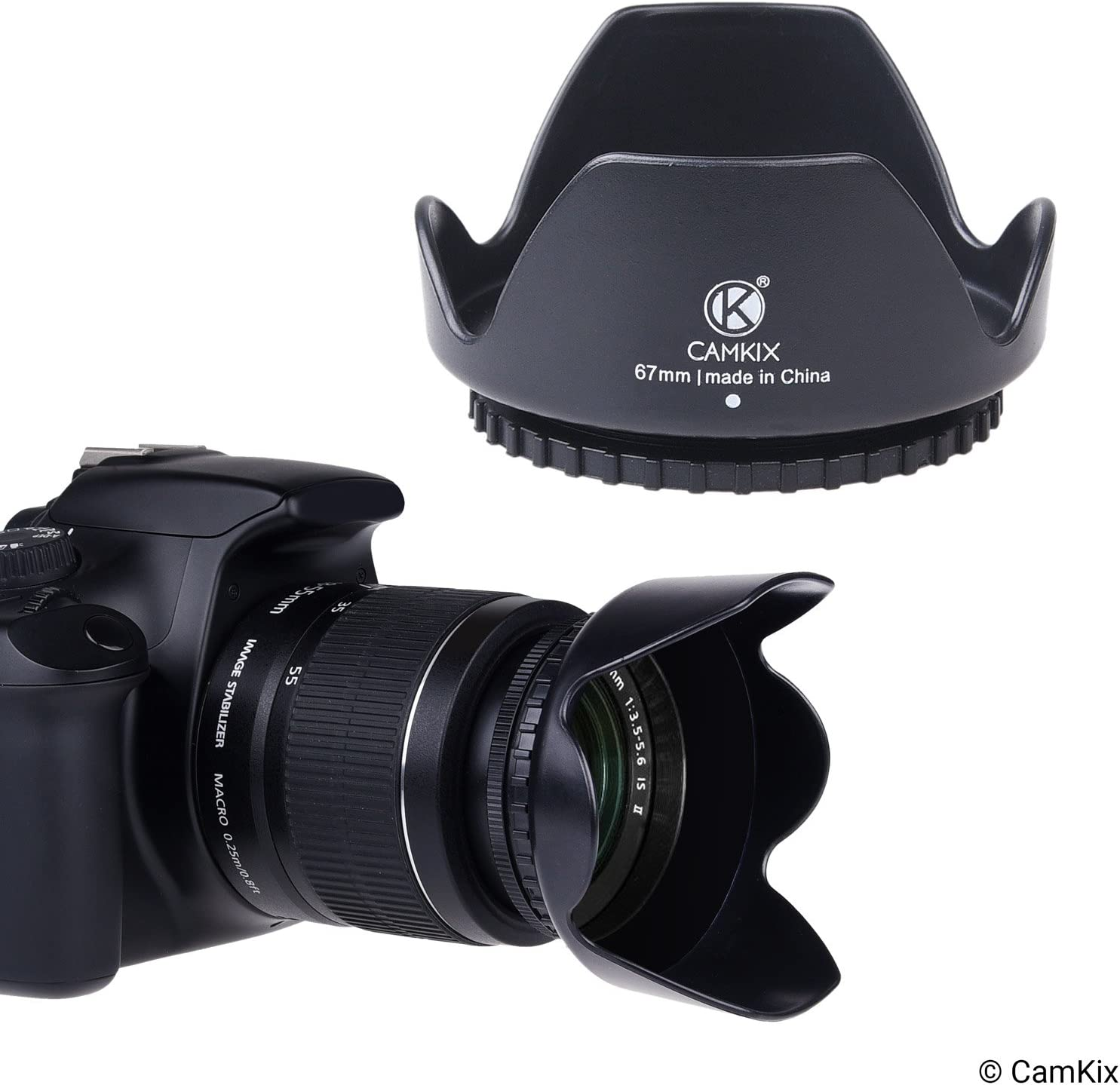 + Tulip Flower Blocks Excess Sunlight for Enhanced Photography and Video Foo 72mm Set of 2 Camera Lens Hoods and 1 Lens Cap Rubber Sun Shade//Shield Collapsible Reduces Lens Flare and Glare