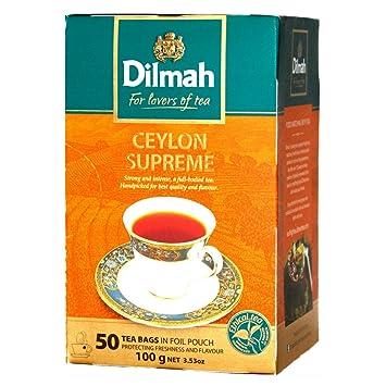 Dilmah Ceylon Supreme Tea – Caja de té de ceilón puro de ...