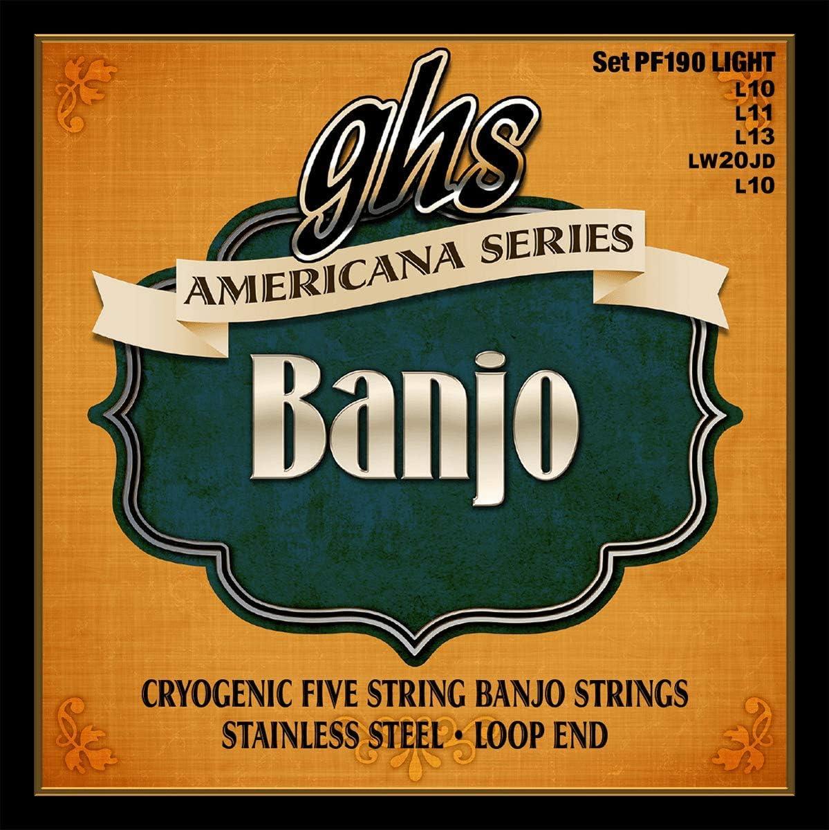 GHS PF 190 Banjo Americana (4 cuerdas) Luz