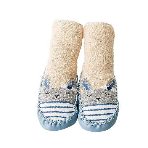 Calcetines de bebé, AMEIDD Calcetines de bebé niña niño Calcetines de algodón Antideslizantes Medias Calientes para bebés Botas de Zapatillas de bebé ...