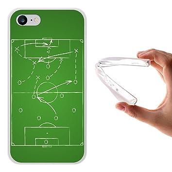 WoowCase Funda iPhone 7, [iPhone 7 ] Funda Silicona Gel Flexible Pizarra Táctica de Fútbol Deporte, Carcasa Case TPU Silicona - Transparente