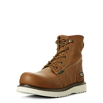 "Ariat Work Men's Rebar Wedge 6"" H2O Construction Boot 
