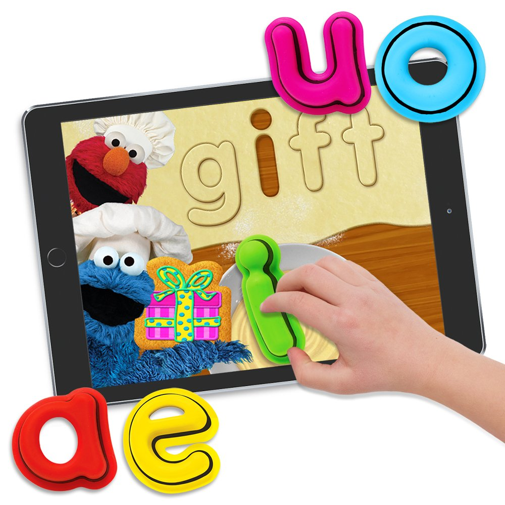 Interactive Learning Toys | Includes 4 Reading and Spelling Games| Great for Kids Ages 3 thru 8 | Featuring Elmo and Cookie Monster in Sesame Street Alphabet Kitchen