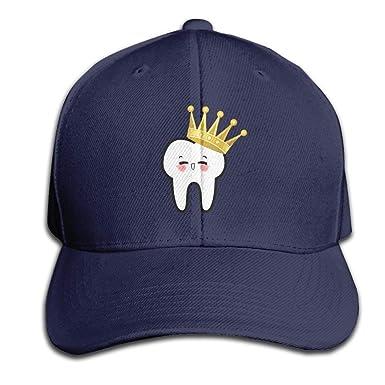 GAMSJM Gorra de béisbol Diente de Corona, Sombrero Negro sin ...