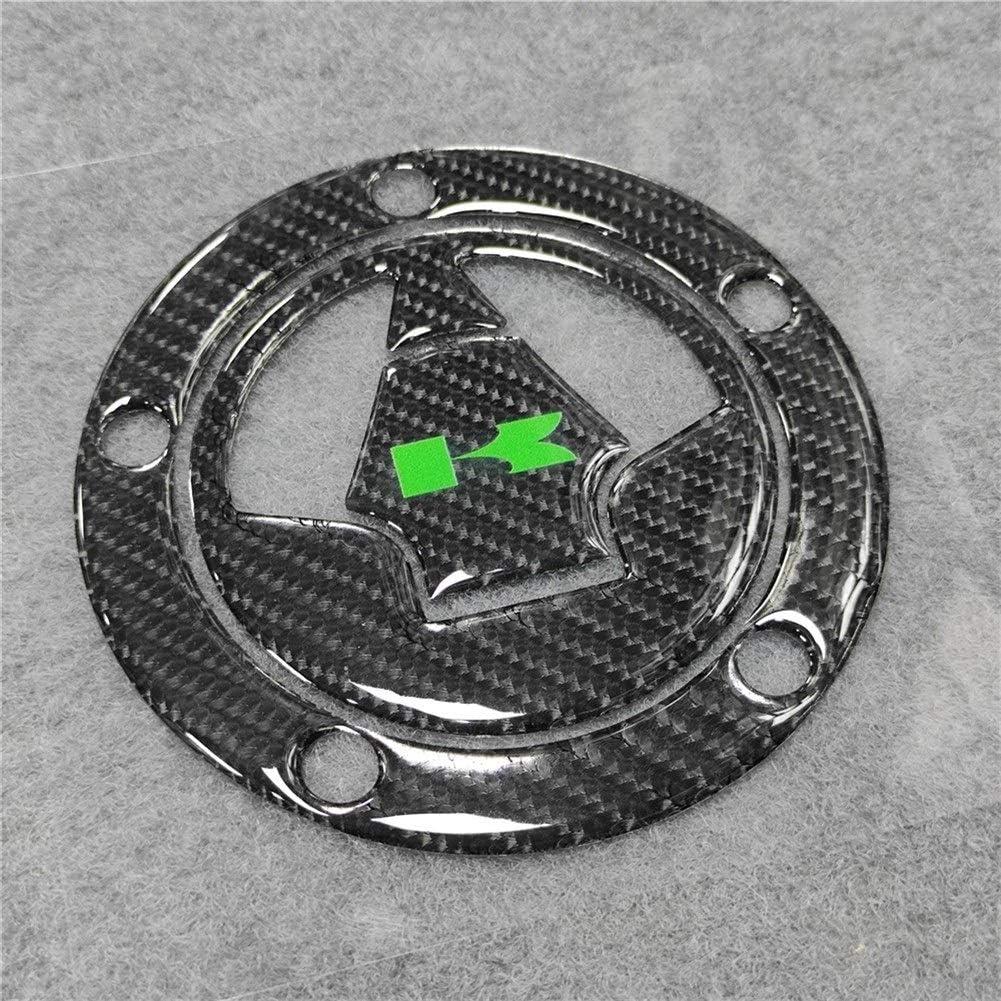 Color : Style 1 for Kawasaki Z1000 Z1000SX Z800 Z750 Z250 6 Couleurs 3D en Fibre de Carbone r/éservoir de gaz de Remplissage Cap Pad Cover Autocollant d/écalques