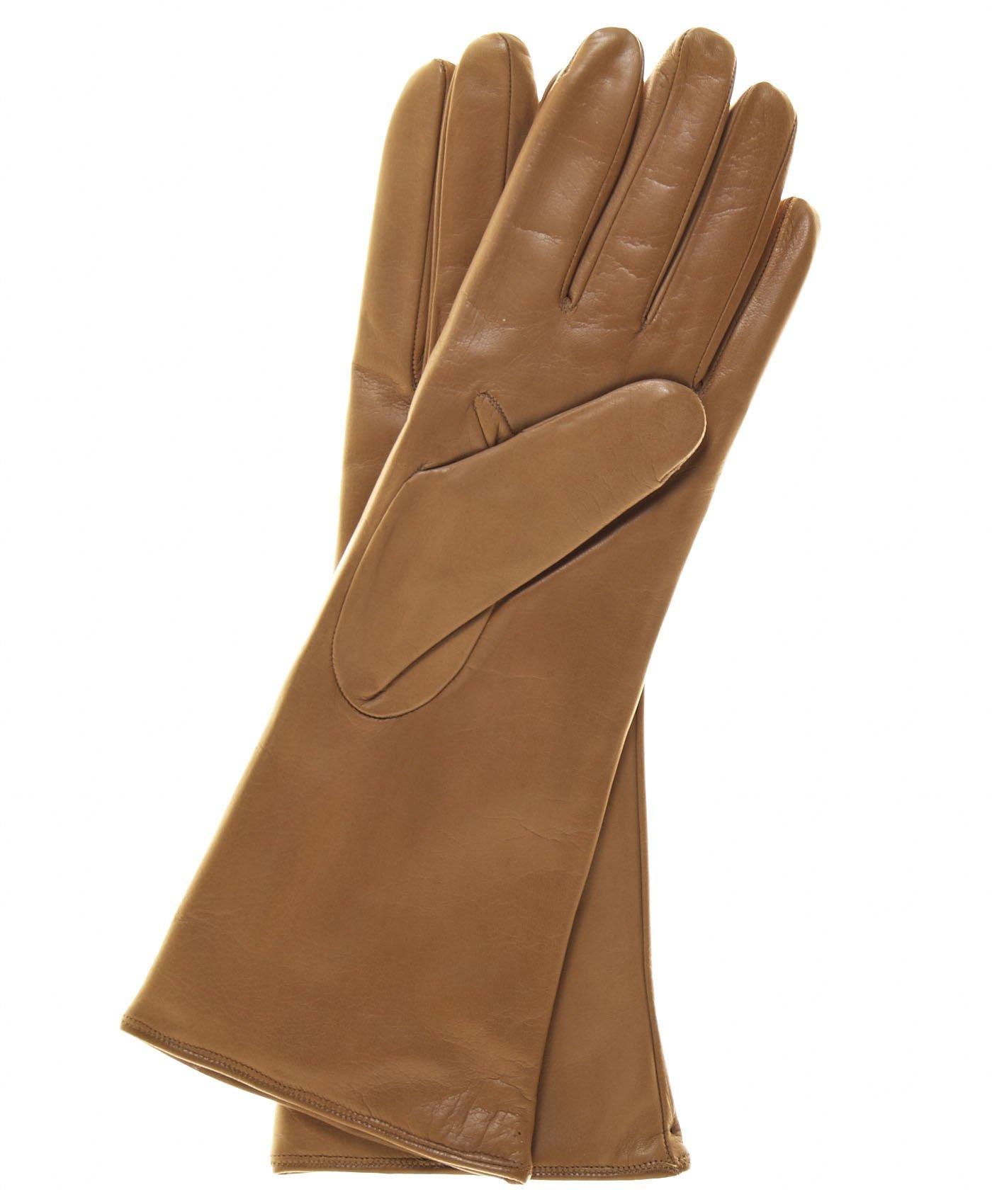 Fratelli Orsini Women's Italian''4 Button Length'' Cashmere Lined Leather Gloves Size 8 1/2 Color Black by Fratelli Orsini (Image #4)