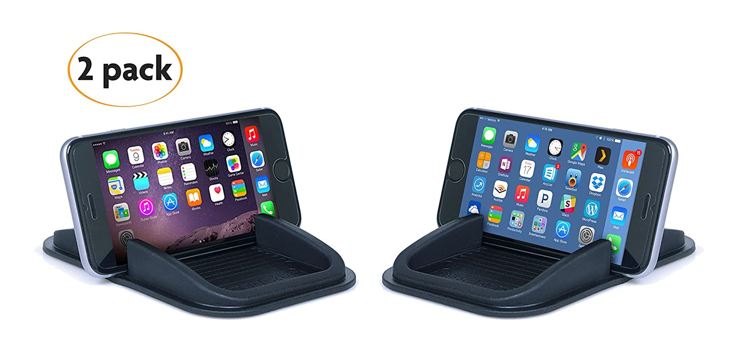 Sticky Pad Roadster Smartphone Dash Mount 2-Pack. No sticky adhesives and leaves behind no residue. Removable and reusable.