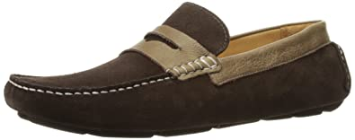 Rush by Gordon Rush Men's Davison Slip-on Loafer, Dark Brown Suede/Dark