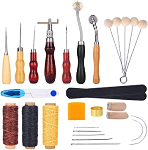 Practical Leather DIY Craft Stitching Poking Needle Sewing Working Hand Tool Kit