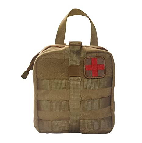ZAFIC Outdoor Military Tactical MOLLE Pouch IFAK Rip-Away EDC Utility Pouch  with Common First Aid Supplies