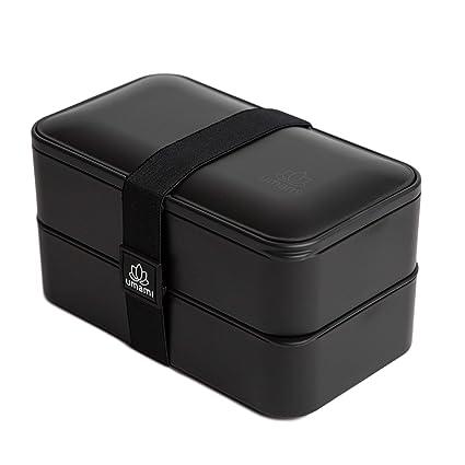 Umami Bento Original – Lunch Box con 2 Compartimentos Cierre hermético con Cubiertos – Durable,