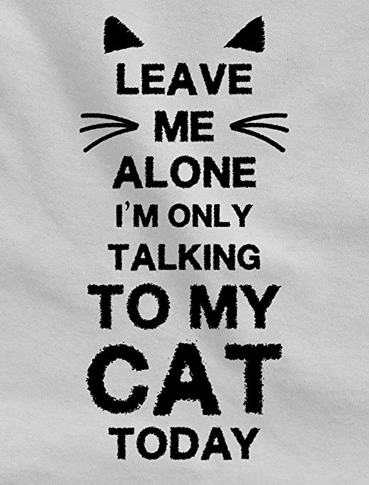 b32f4e048 Tstars Leave Me Alone I m Only Talking To My Cat Today Gift For Cat Lover  Singlet at Amazon Men s Clothing store