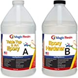 Magic Resin | 1 Gallon (3.8 L) | Premium Quality Clear Epoxy Resin Kit | Non-Toxic | High Gloss Thick Clear Coat | For…