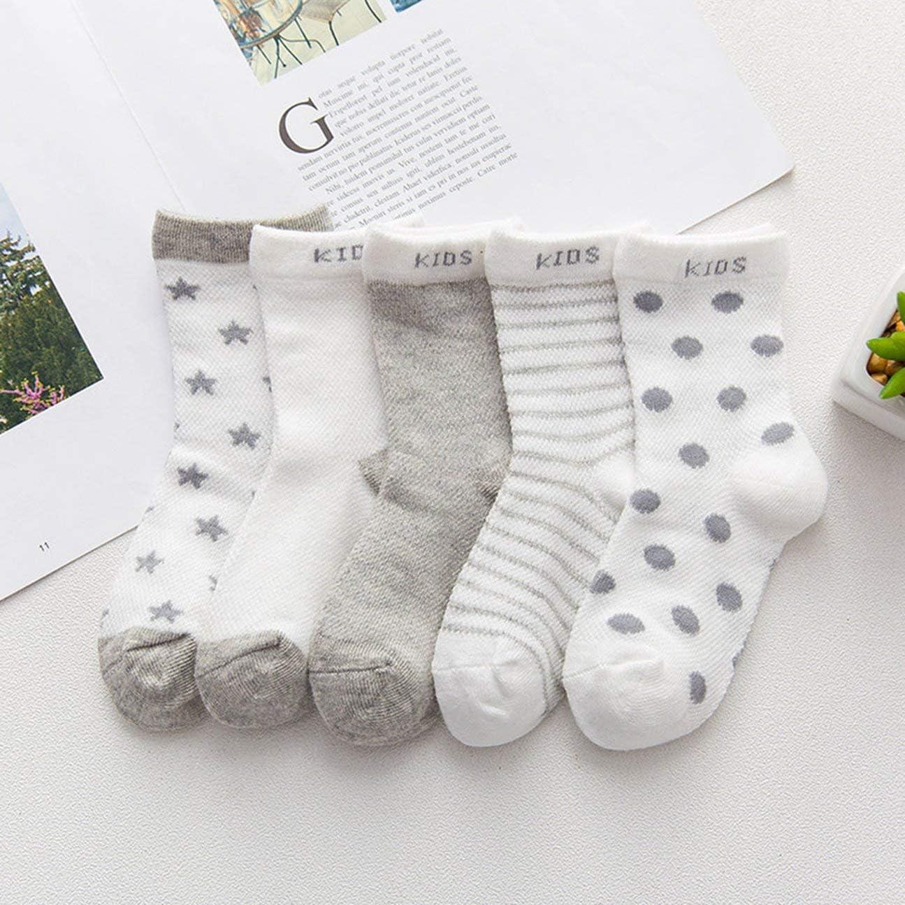 HIPENGYANBAIHU Baby Boys Girls No Slip Socks Stars Moon Socks Baby Shoes Kids Winter Warm Thick Socks Shoes for 0-3 Years Infant Baby