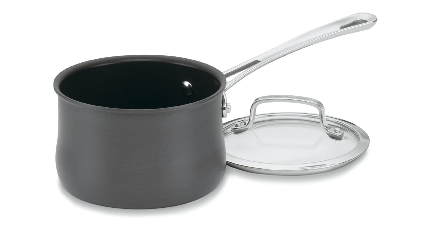 Cuisinart 6419-14 Contour Hard Anodized 1-Quart Saucepan with Cover