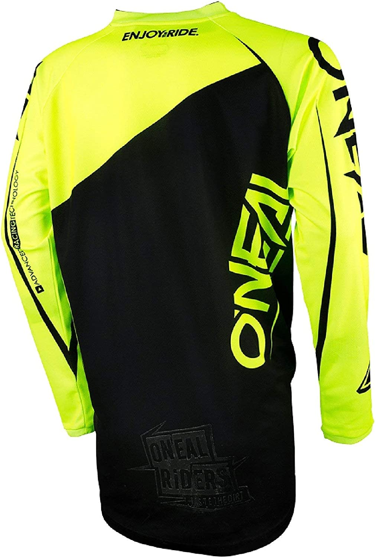 Maglia in jersey a maniche lunghe nero//giallo ONEAL Mayhem Lite MX 2018 colore