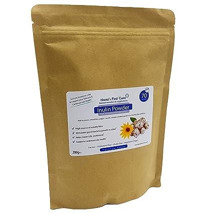 Polvo de inulina: fibra soluble prebiótico - Simplemente espolvorear sobre alimentos para reducir el colesterol