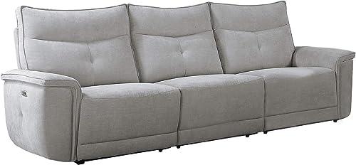 Homelegance 110 Power Double Reclining Sofa, Gray