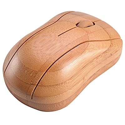 Horsebiz Bamboo 2.4 GHZ Wireless Optical Mice DPI 1200/1600