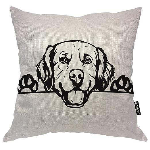 Perro perdiguero dorado Cojín para perro Funda de almohada ...