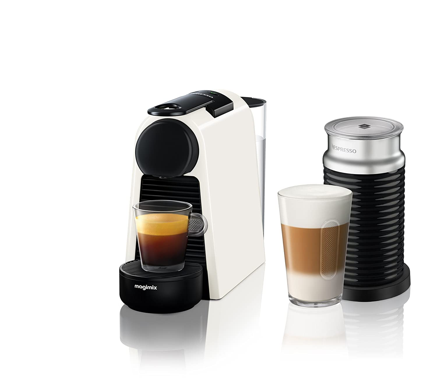 Nespresso Essenza Mini Coffee Machine, Pure Black Finish by Magimix 11368
