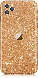 iPhone 11 Pro Max Bling Skin Sticker, Supstar Full Body Glitter Vinyl Decal - Dustproof, Anti-Scratch for Apple iPhone 11 Pro Max (Champagne Gold)