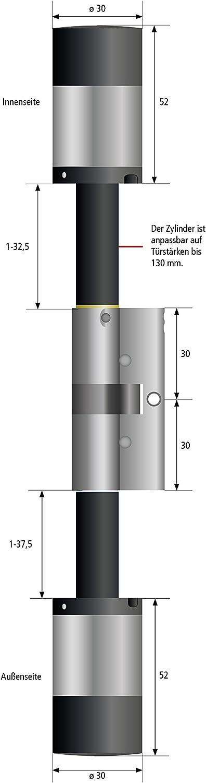 Burg-W/ächter secuENTRY pro 7000 Zylinder Elektronisch
