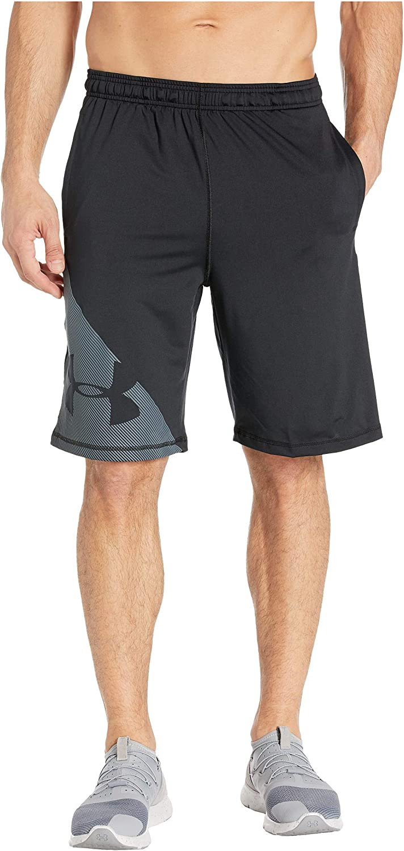 Under Armour UA Raid Graphic Shorts Black/Wire LG 10