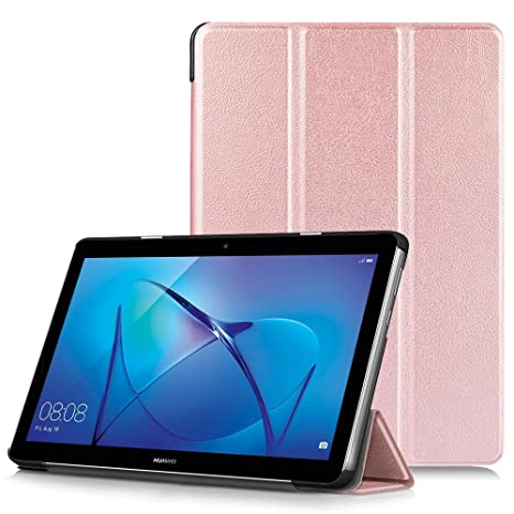 vasta selezione di 8e827 7ff8a HUAWEI MediaPad T3 10 Case - Ultra Slim Lightweight Smart Shell Stand Cover  Case for HUAWEI MediaPad T3 10 9.6-Inch Tablet 2017 Release, Rose Gold