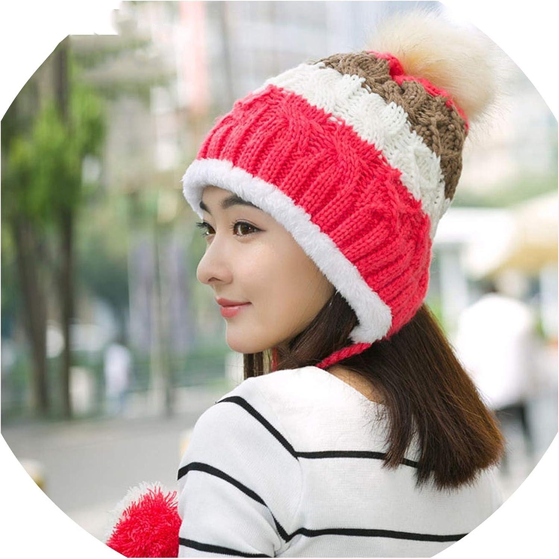 Hat Women Stitching Knitted...