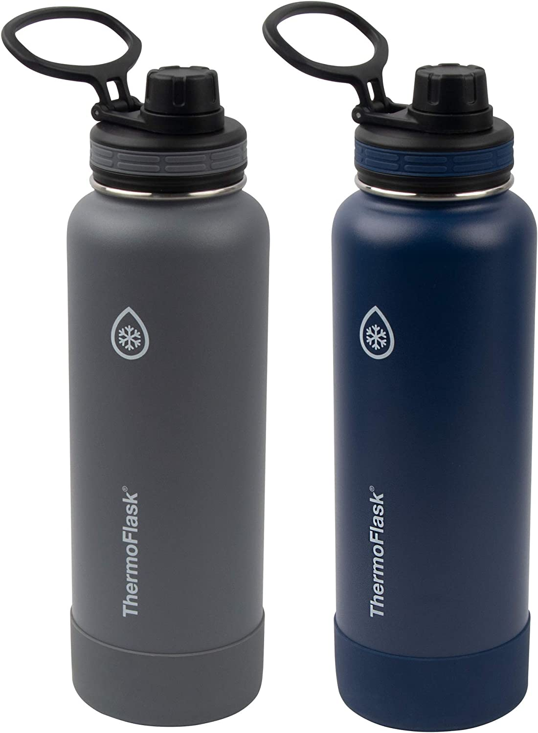 Thermoflask Double Wall Vacuum Insulated Stainless Steel Water Bottle 2-Pack