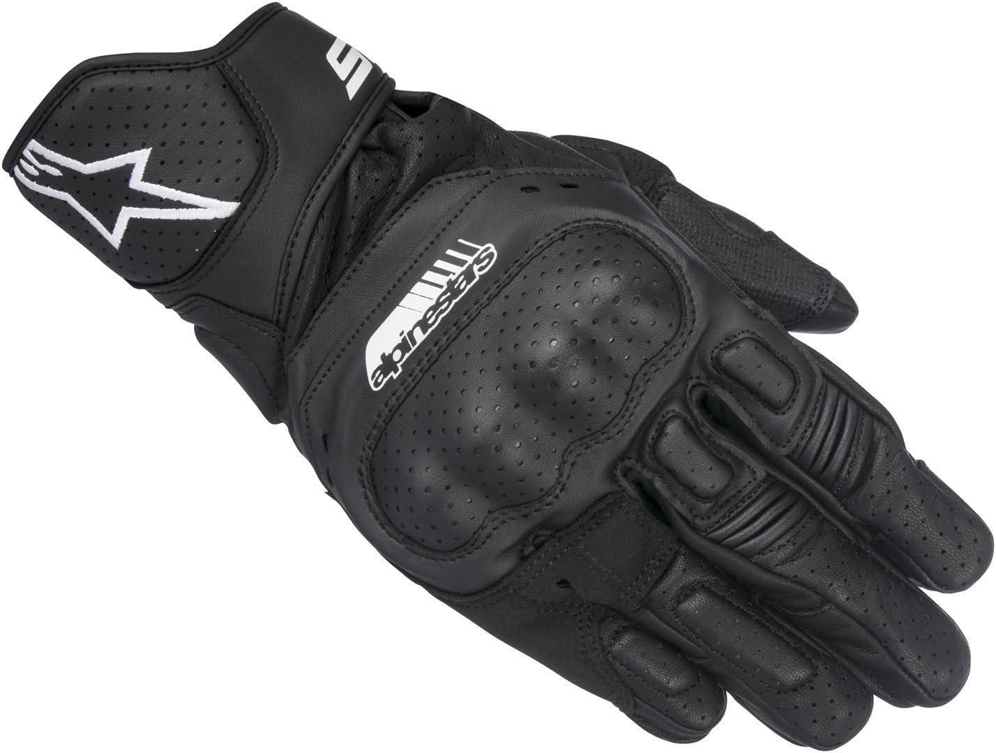 guantes de moto de cuero verano Alpinestars