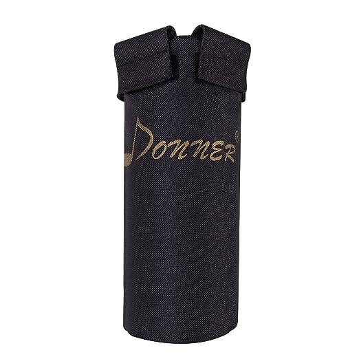 Donner - Bolsa para Guardar las Baquetas de la Batería/Palillo del Tambor,Color Negro,Aleación de aluminio + Nylon