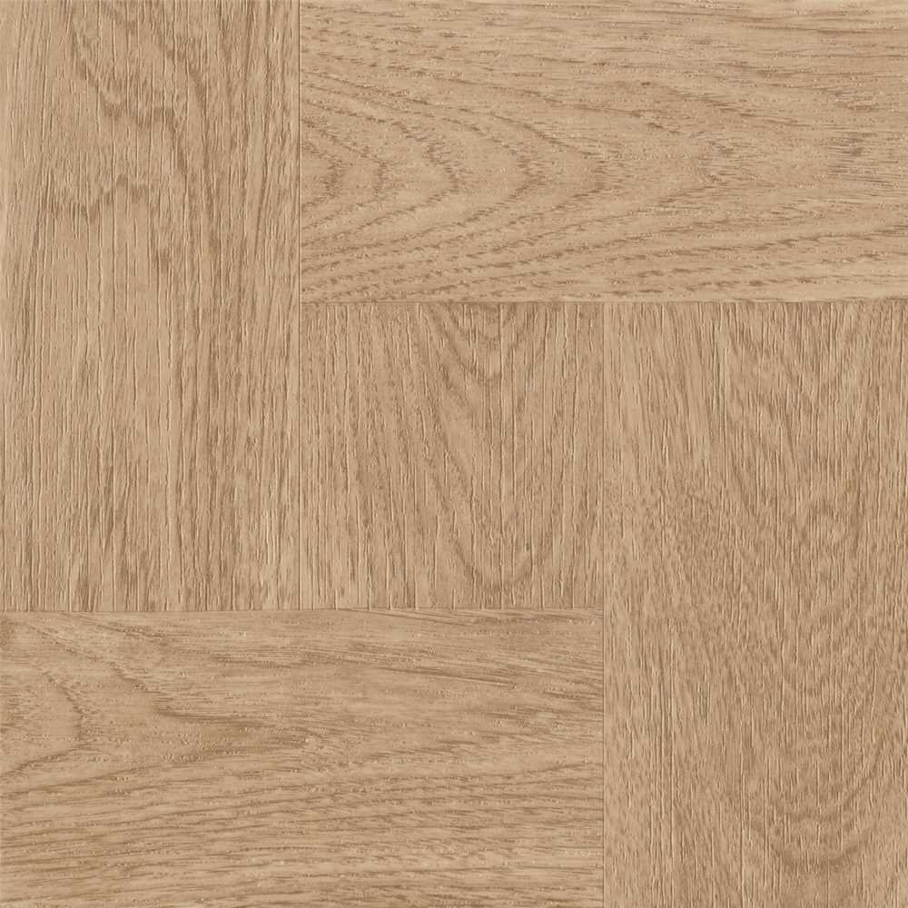 ARMSTRONG WORLD INDUSTRIES 25218 Natural Wood Parquet 1.65mm (0.065'')/45 Sq. Ft. Per Case Peel N' Stick Tile 12'' x 12''