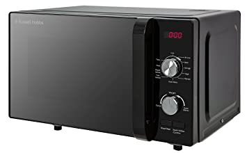 3308d8d0cf44 Russell Hobbs RHFM2001B Flatbed Microwave, 19 Litre, Black: Amazon ...