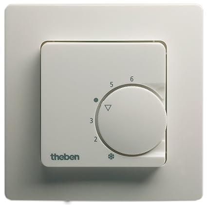 Theben ram748ra - Termostato ambiente empotrar ram748-ra