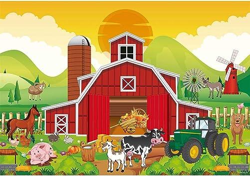 Farm Landscape Birthday Banner Personalized Decoration Backdrop