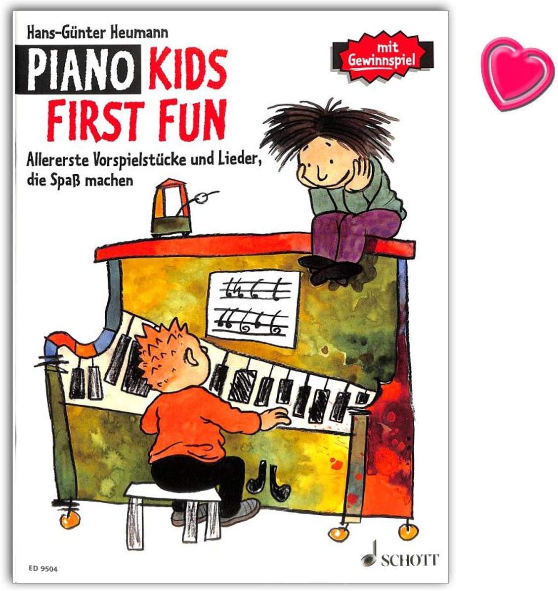 Piano Kids, First Fun – Libro de seguimiento de banda 1 y 2 de la escuela de piano – Primeros juegos y canciones que hacen divertir. Libro de ...