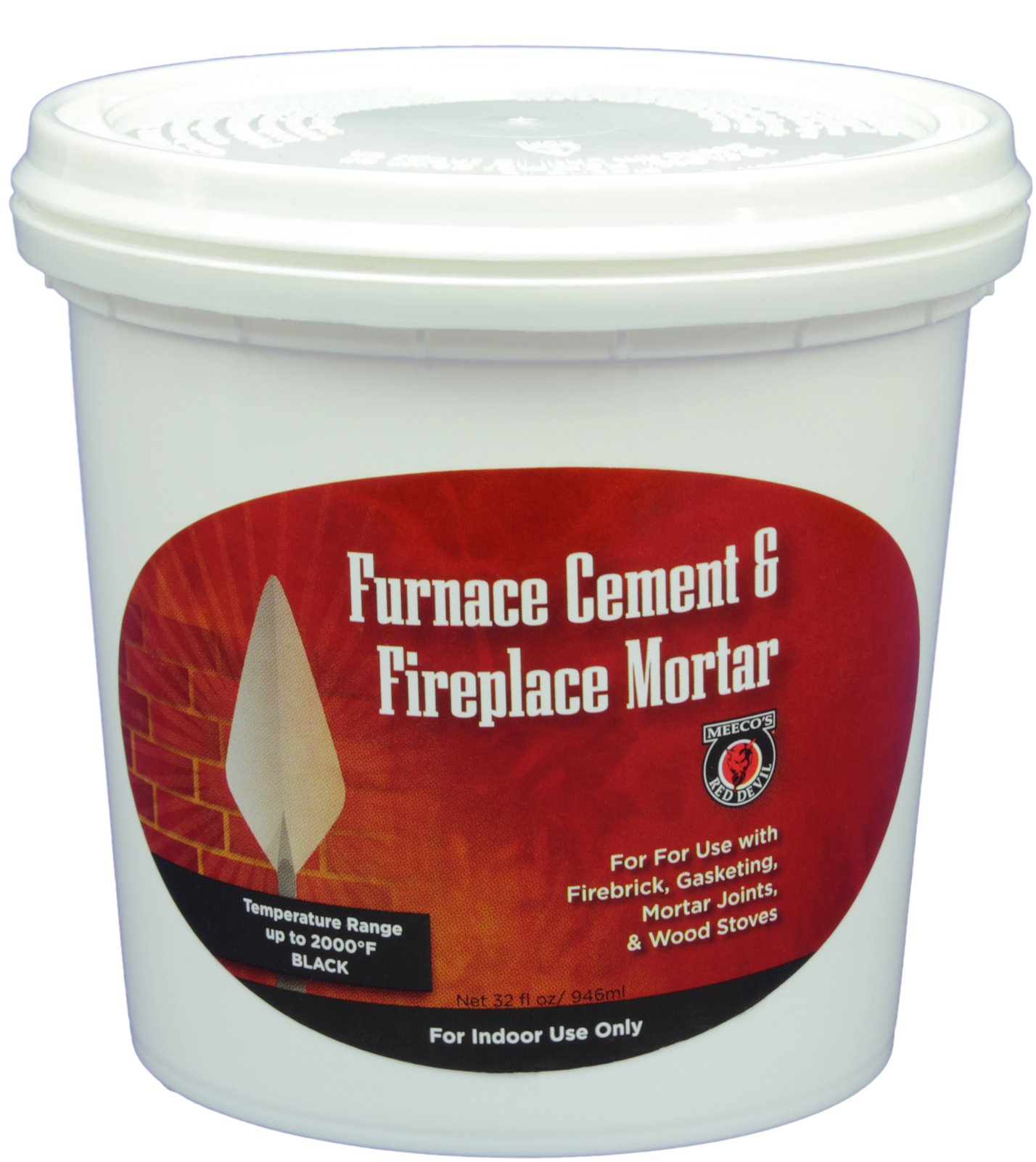 MEECO'S RED DEVIL 1334 Furnace Cement and Fireplace Mortar