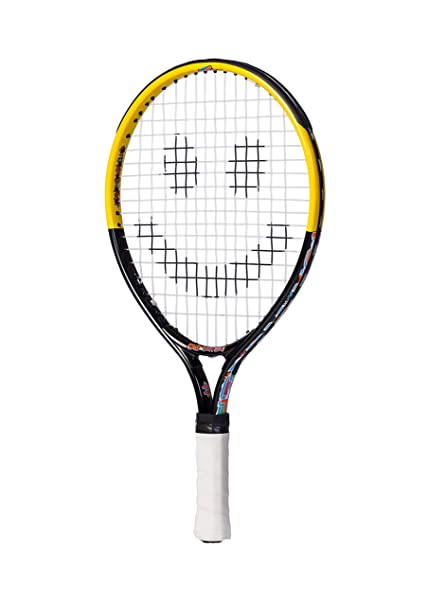17 inch Tennis Racket/Racquet for Kids. Ages 2 to 5 or 30 to 39 in tall. This Youth Tennis Racket Is Specifically Designed to Help Contact the Ball More Often.(17)