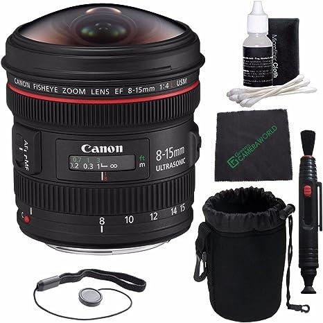 Canon EF 8 – 15 mm f/4L Ojo de Pez USM Lente + Funda para Objetivo ...