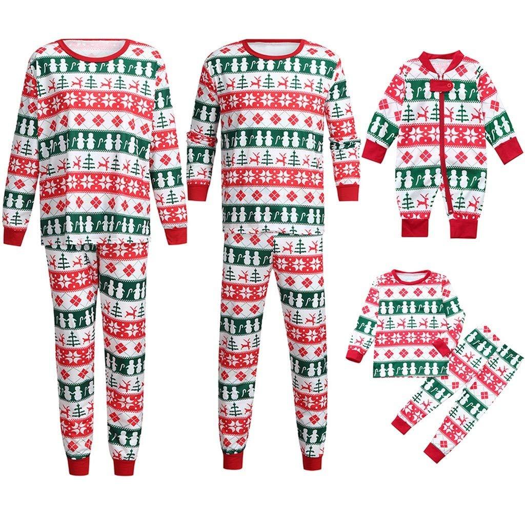 b40013175ae2 Amazon.com  YunZyun 2 Piece Women Men Kids Toddler Christmas Stripe ...