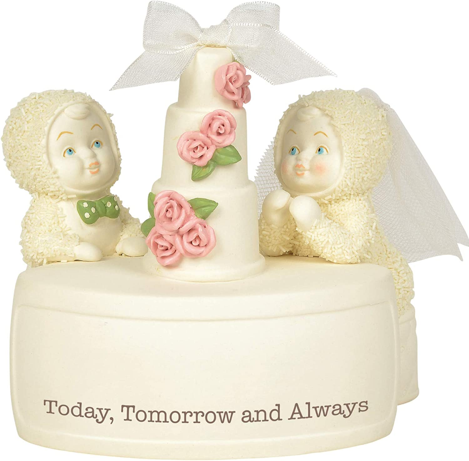 Department 56 Snowbabies Classics Today Tomorrow and Always Figurine, 4.375 Inch, Multicolor